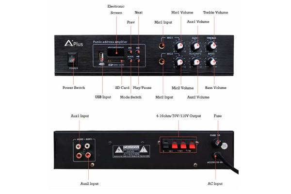 Amply liền mixer Aplus AP-2060