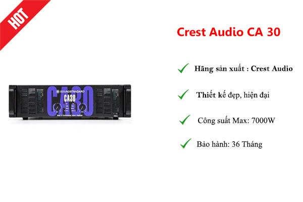 Cục đẩy công suất Crest Audio CA 30