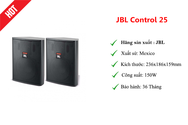 Loa treo tường cao cấp JBL Control 25