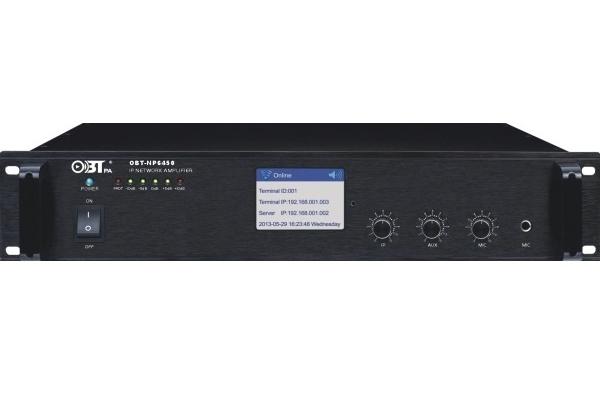 Amply liền mixer kết nối mạng OBT NP6450