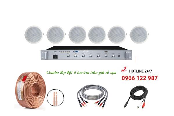 Combo 6 loa âm trần giá rẻ nghe nhạc cho Spa, Massage, Nail, cửa hàng (Shop)